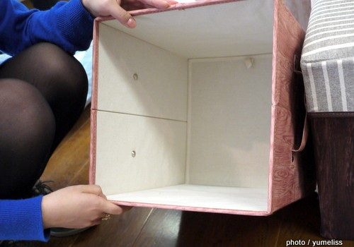部屋の整理にオススメ!フェリシモ「こっそり片づくスツールボックス」