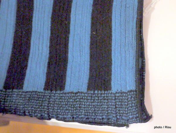 ストライピー ストライプ スカーフ ブルー - MoMA