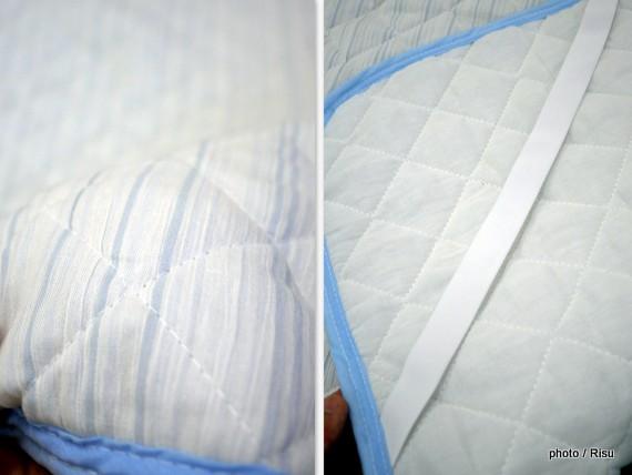 先染め楊柳の敷きパッド