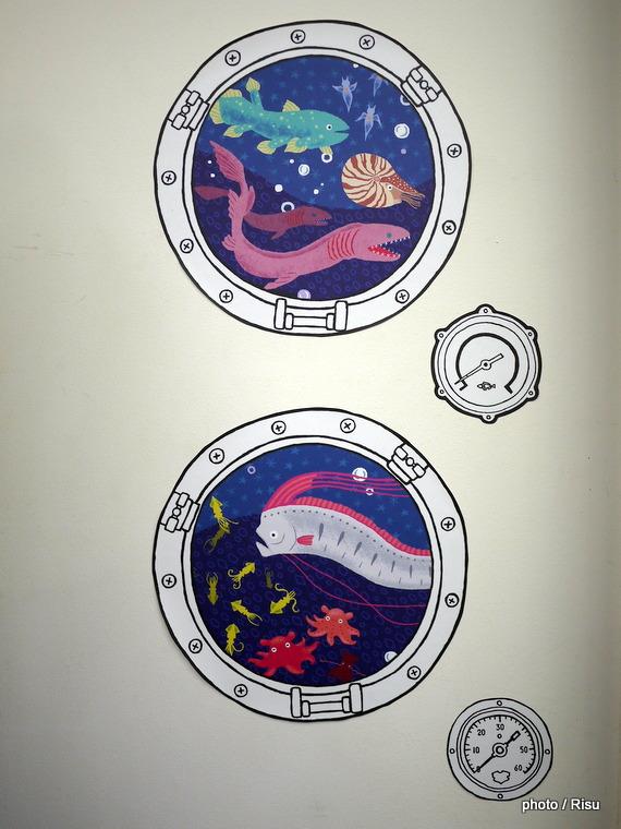 潜水艦からのぞく 深海ウォールシール