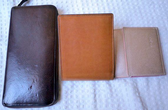 長財布、二つ折り、薄型?国産革財布3タイプを並べて比較