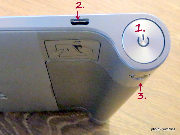 3G SIMロックフリータブレット「YOGA TABLET 8」6404-001