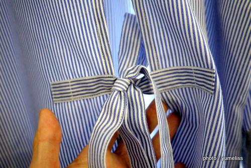 フェリシモ 袖口切り替えがこだわりの重ね着風エプロンP1160335