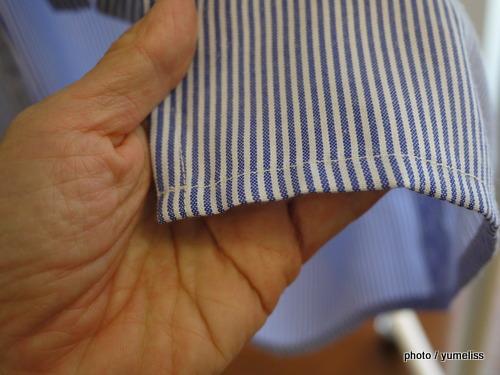 フェリシモ 袖口切り替えがこだわりの重ね着風エプロンP1160336