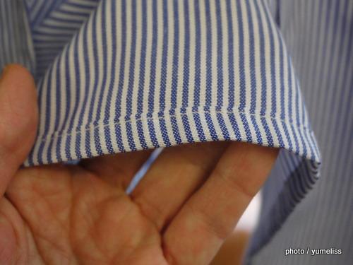 フェリシモ 袖口切り替えがこだわりの重ね着風エプロンP1160337