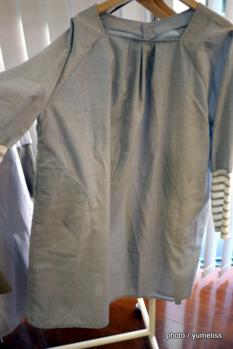 フェリシモ 袖口切り替えがこだわりの重ね着風エプロンP1160339