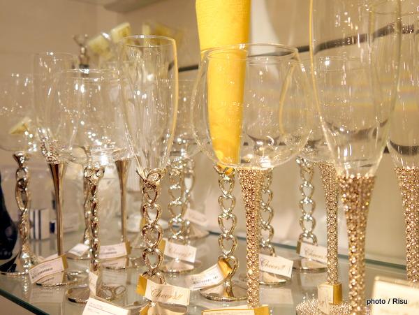 ラ ブティック ドゥ ラ メゾン ピテ シャンパン・ワイングラス ストーン ハート