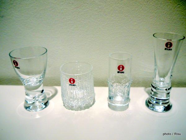 Cordial glasses set tapio wirkkala,1954-1980