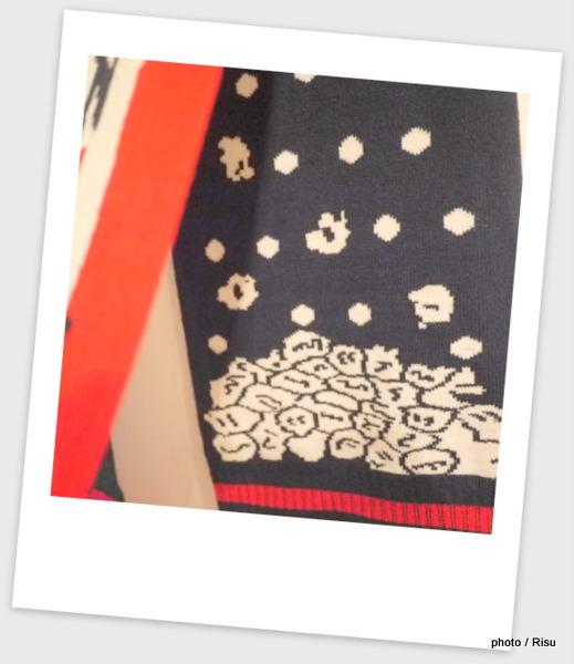 ポップコーンスカーフブラック-MoMA