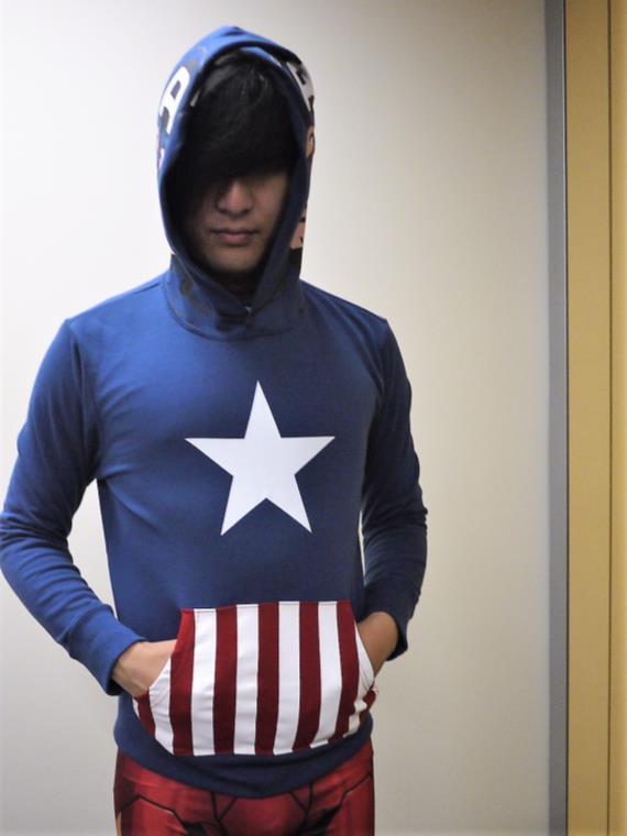 キャプテンアメリカ|なりきり裏起毛パーカ